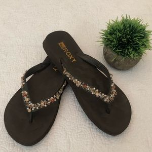 roxy seashell sandals